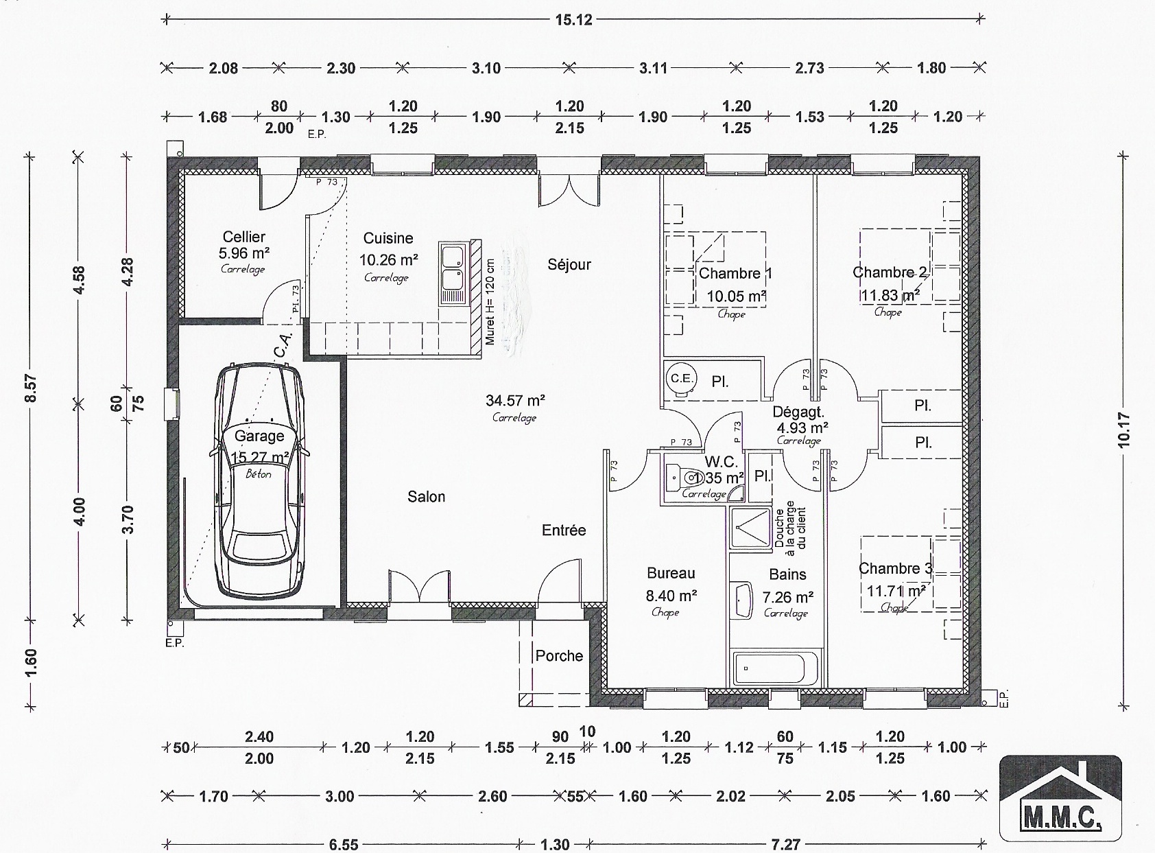 Plan de maison simple maison moderne for Maison moderne simple